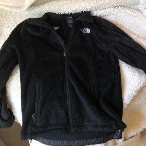 North face fleece zip up coat women's